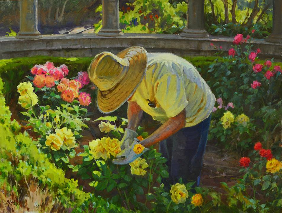 the gardener 18x24 oil