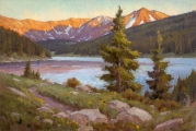 "<h5>Sunset Lake 24""x36"" Oil on Linen</h5>"