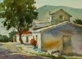 <h5>Casa Blanca 18x23 watercolor</h5><p>Available through Matteucci Gallery, Santa Fe NM. www.matteucci.com</p>