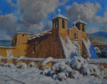 <h5>St. Francis in Snow  16x20 Oil on Linen</h5>