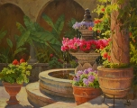 <h5>Summer Fountain 24x30 Oil on Linen</h5>