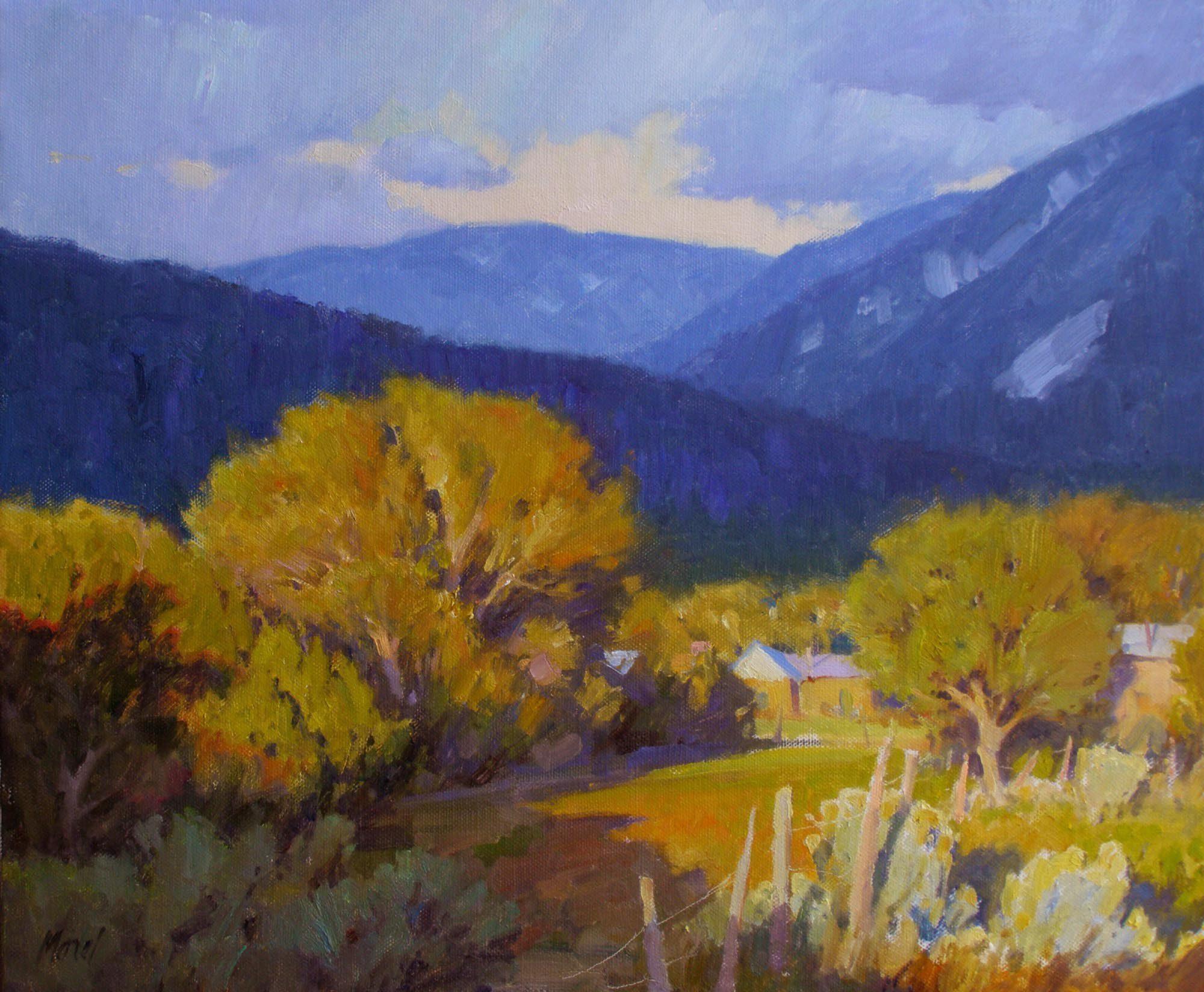 Taos Blues 20×24 2000ppi
