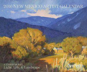 2016 new mexico artist calendar, new mexico artist, j. chris morel